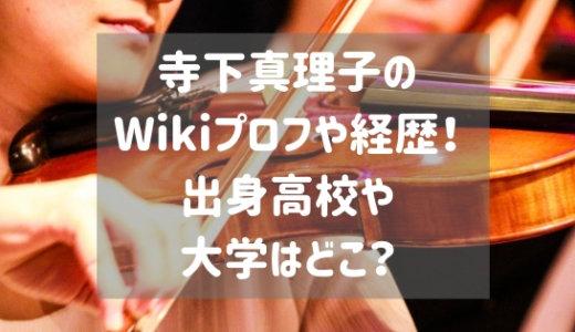 寺下真理子のWikiプロフや経歴!出身高校や大学はどこ?