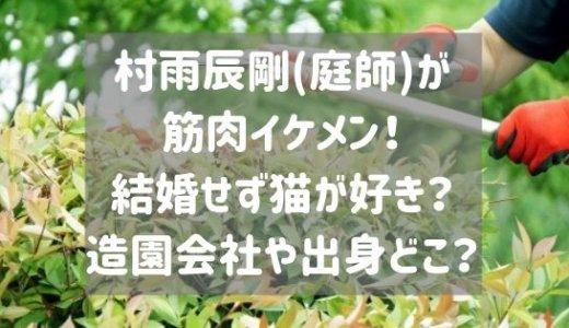 村雨辰剛(庭師)が筋肉イケメン!結婚せず猫が好き?造園会社や出身どこ?